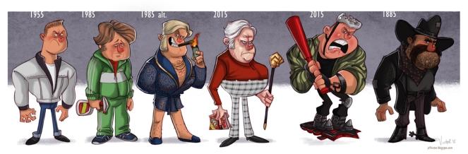 """Biff Tannen da trilogia """"De Volta para o Futuro"""""""