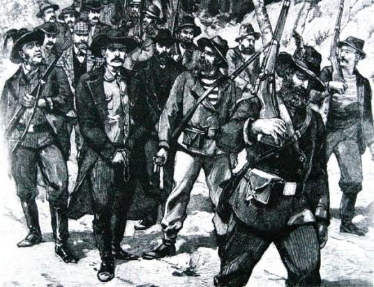 Jameson sendo preso após o fracasso de sua missão.