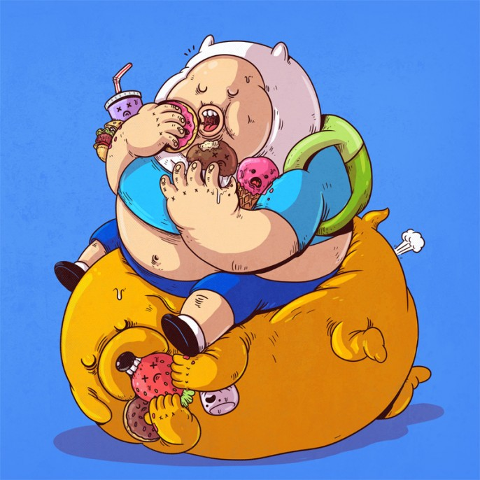 Alex-Solis-The-Famous-Chunkies-Adventure-Time-686x686