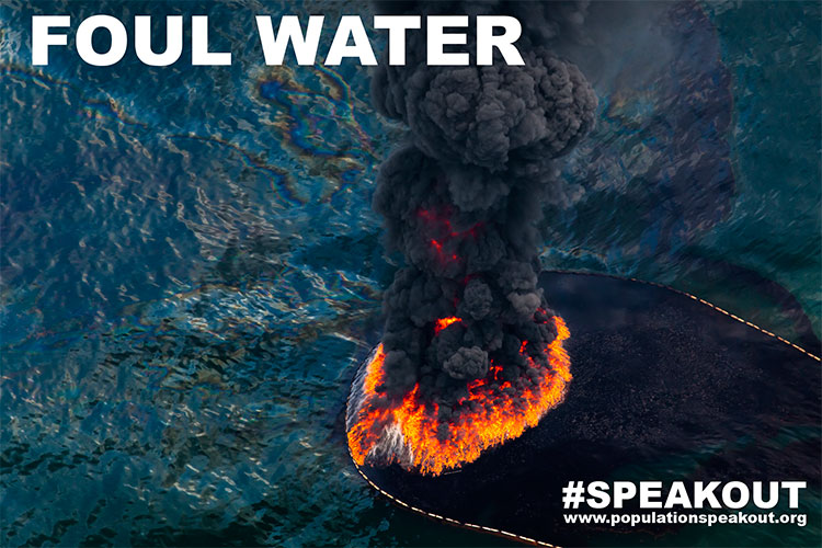 Vista aérea de um fogo de óleo após o desastre de petróleo Deepwater Horizon 2010 no Golfo do México.