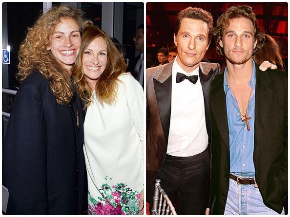 Julia Roberts: 1989 vs. 2013 (24 anos) & Matthew McConaughey: 2014 vs. 1996 (18 anos)