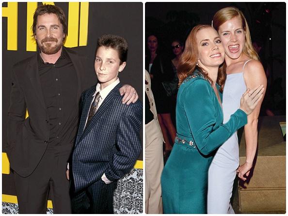 Christian Bale: 2013 vs. 1987 (26 anos) & Amy Adams: 2014 vs. 1999 (15 anos)