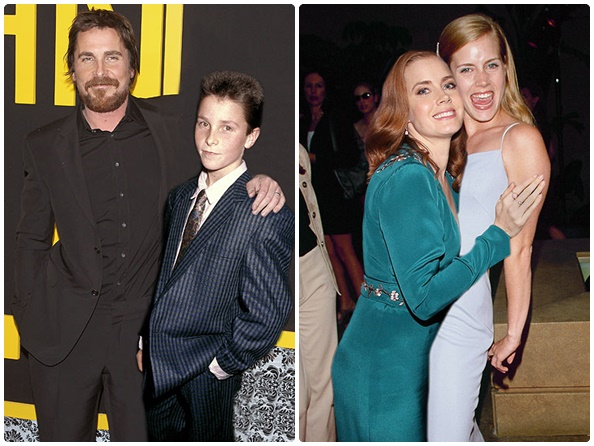 Christian Bale: 2013 vs. 1987 (26 anos) & Amy Adams: 2014 vs. 1999 (15 anos)