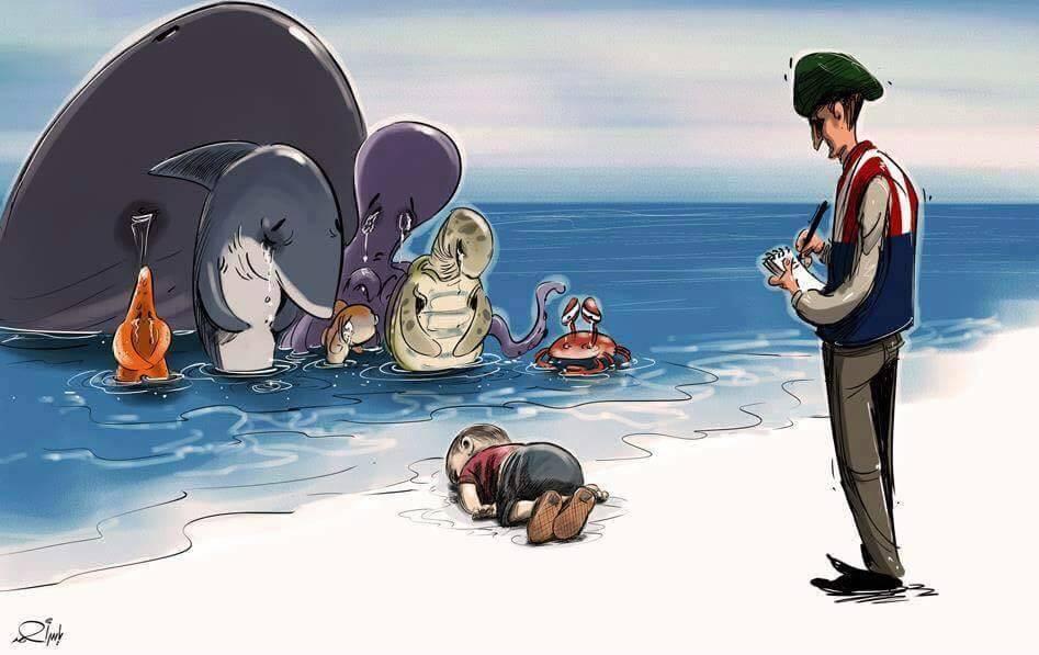 Nós estamos perdendo nossa humanidade e as pessoas vão morrer nas fronteiras. ~ Azzam Daaboul